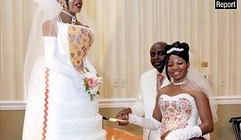 wedding cake bride