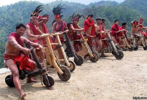 Philipino Wooden Bike Gang