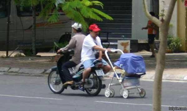 bike tows stroller