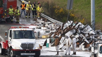 Driver Flips Tractor-Trailer On Highway, 13 Million Bees Roam