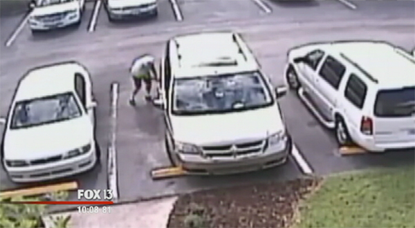 Florida Man Slashes Tires