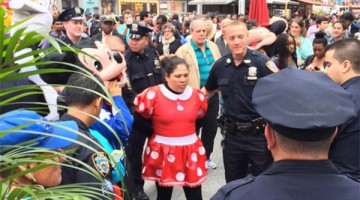 Minnie Mouse And Hello Kitty Headed To The Slammer For Fighting In Times Square Brawl
