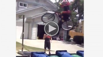 Watch This Amateur BMX Rider Attempt To Make A Jump He Has No Business Doing
