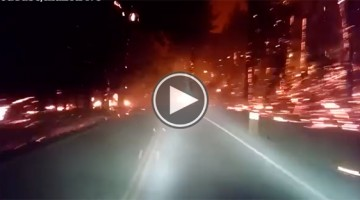 Watch This Man Try To Escape This Raging Forrest Fire In This Dramatic Video