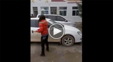 Chinese Woman Destroys Cheating Husband's Car with Hammer