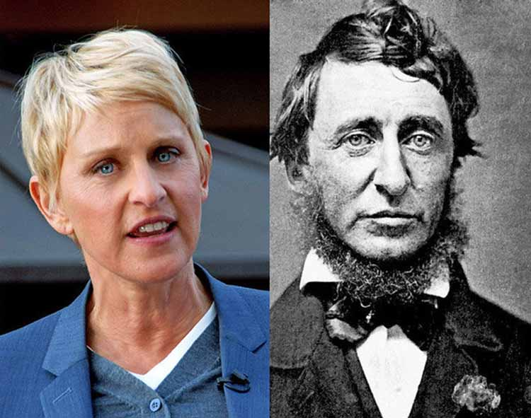 Ellen-DeGeneres-and-Henry-David-Thoreau