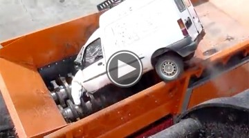 Watch This Machine Destroy A Truck In The Most Frightening Way Possible