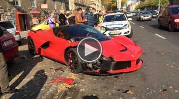 Owner Crashes Ferrari LaFerrari Minutes After Buying It