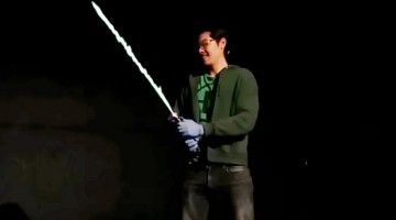 REAL 'Star Wars' Lightsaber That Runs On Alcohol