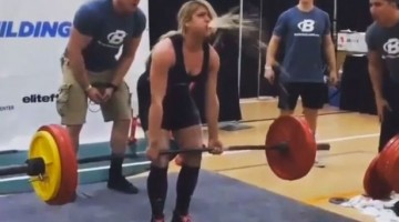 Female Weightlifter Explodes While Pumping Iron