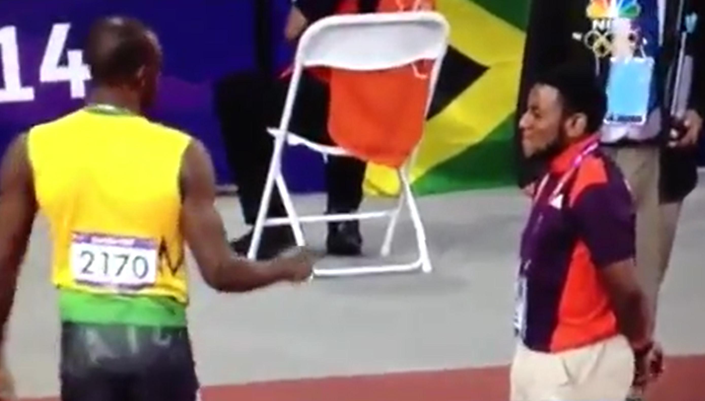 Usain Bolt fist bump 2016 Rio Olympics