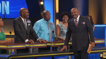 Watch Steve Harvey's Reaction After Meeting His Doppelganger on 'Family Feud'